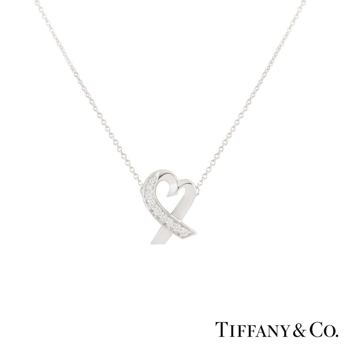 Tiffany & Co. White Gold Paloma Picasso Diamond Pendant